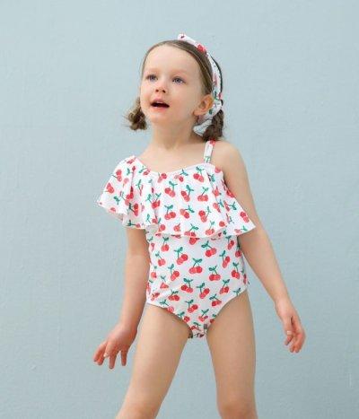 画像1: カチューシャ付き 子供(小)水着