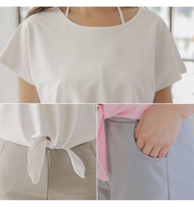 画像3: Tシャツとサーフパンツとトップスとショーツの水着4点セット