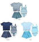 画像3: Tシャツとサーフパンツとタンキニトップスとショーツとカバーアップ4点セット水着 (3)
