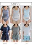 画像4: Tシャツとサーフパンツとタンキニトップスとショーツとカバーアップ4点セット水着 (4)